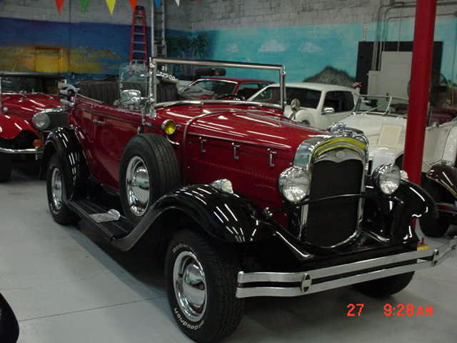1931 Model A Ford Phaeton 4 Passenger Replica Factory