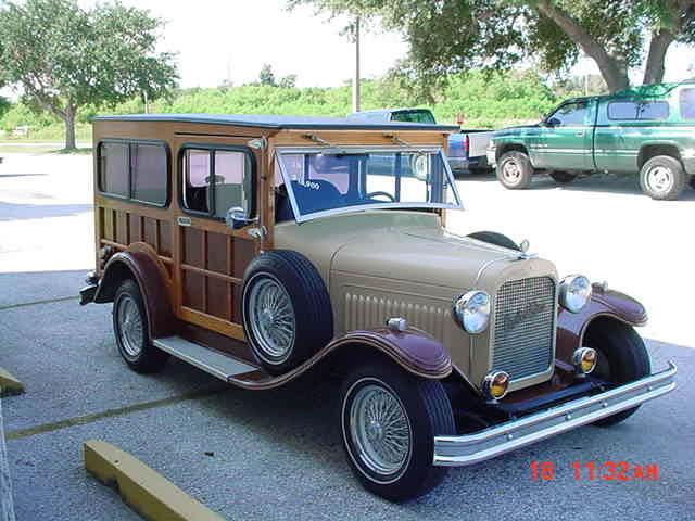 1929 Model A Ford Woody Wagon Replica Super Rare 4 Seats