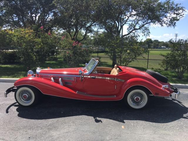 1934 mercedes 500k heritage replica custom red paint for Mercedes benz suicide doors