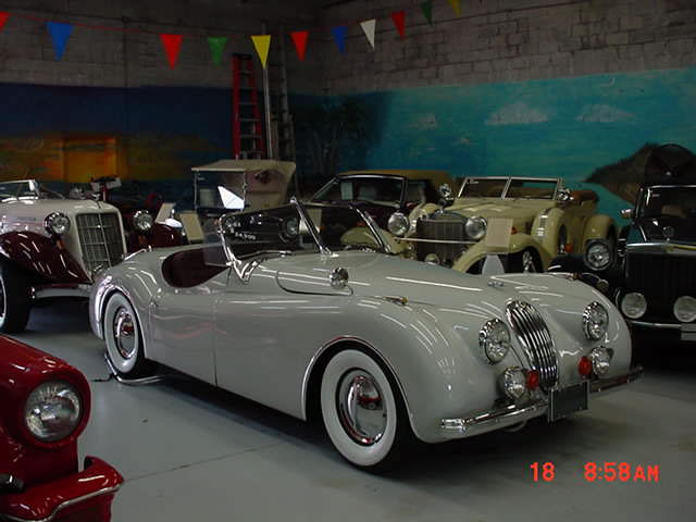 1952 Jaguar XK 120 Roadster Replica, From Eagle Coach Works, High  Performance Ford 289 V8, Automatic, Duals, Fresh Light Gray Paint Job, U0026  Custom Hard Top, ...