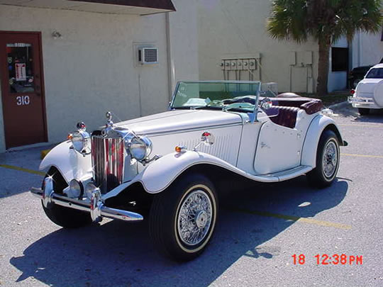 mgtd replica from classic roadster in nd model is the grande dutchess 23 liter front ford 4 speed manual red top curtains boot