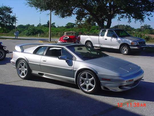 1998 lotus esprit v8 twin turbo 350hp 32v 175mph air cd abs silver black leather. Black Bedroom Furniture Sets. Home Design Ideas