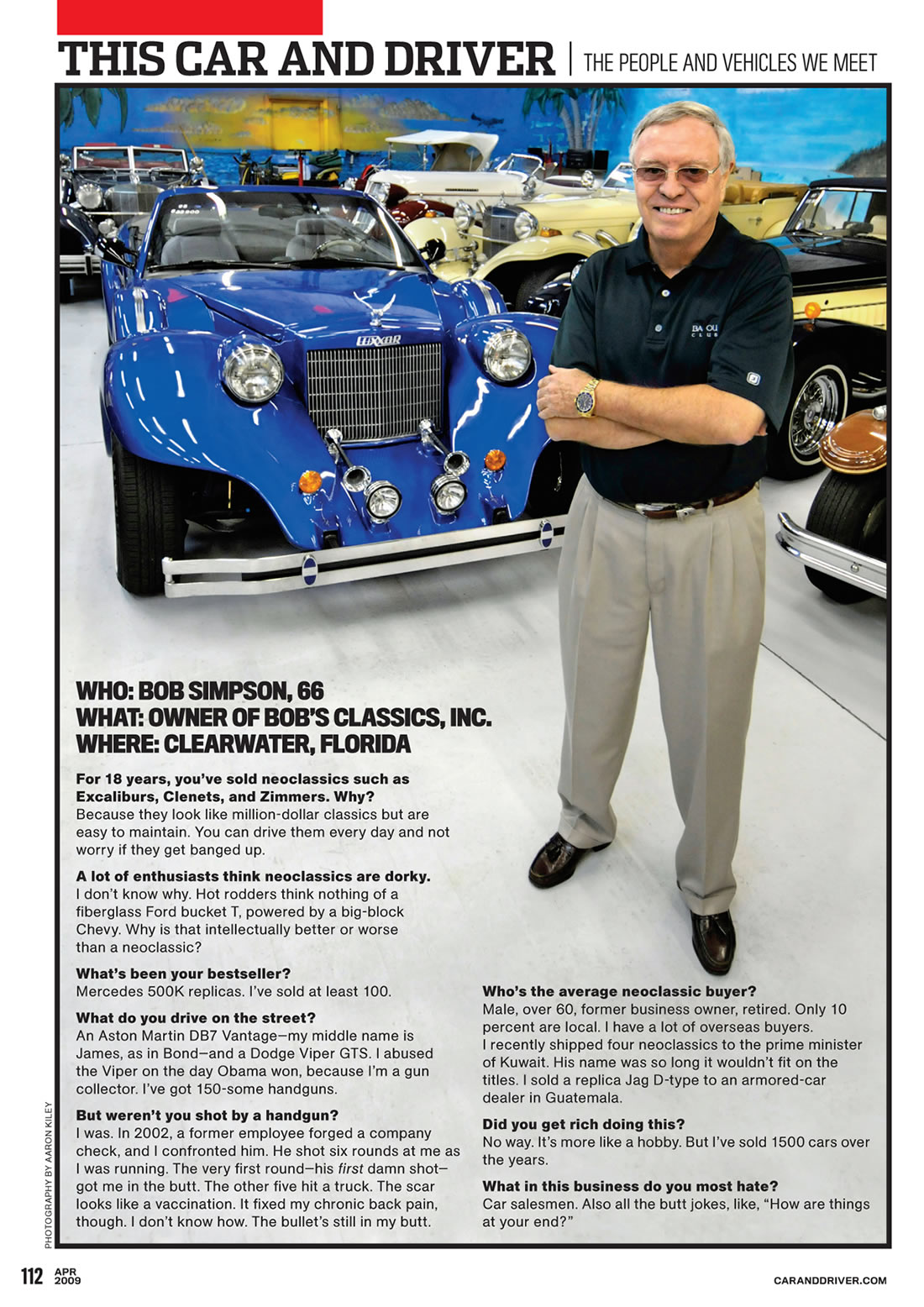 Bob's Classics, Inc  your source for replica autos, neo